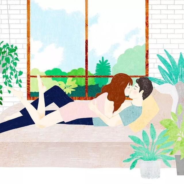 真实而让人向往的情侣插画,甜羞甜羞的!