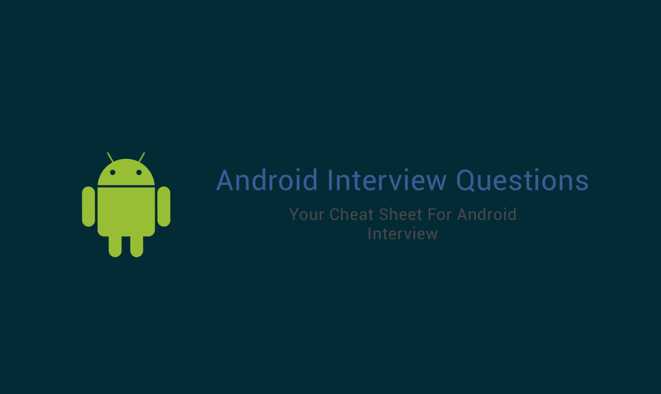 Android Interview Questions Github 面試-github開源-帥張上傳- 台部落