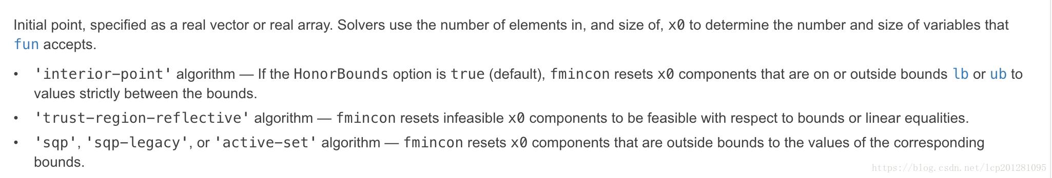 MATLAB fmincon 的初值x0的選取問題- 台部落