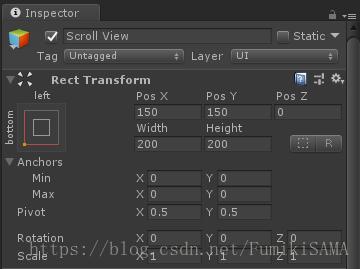 木木的Unity学习笔记(二)—— 利用UGUI ScrollRect组件制作手游