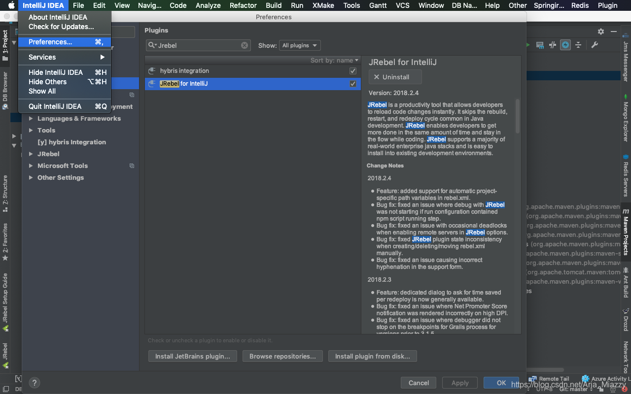 Intellij idea install jrebel plugin | IntelliJ IDEA: The