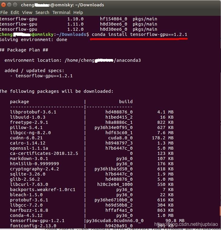 人工智能學習1--環境搭建:Ubuntu16 04安裝Anaconda及TensorFlow-gpu