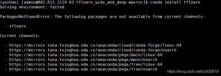 anaconda 安裝package提示PackagesNotFoundError - 台部落